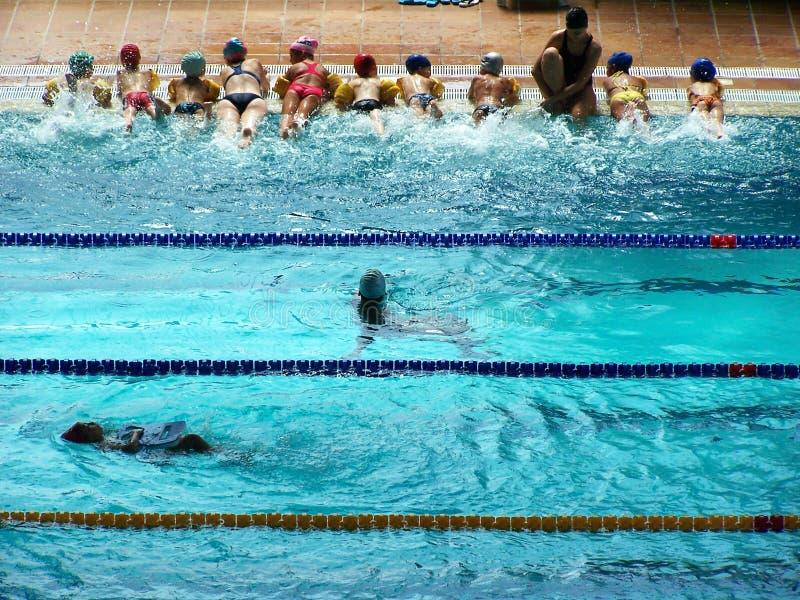 Olympische Pool royalty-vrije stock foto's