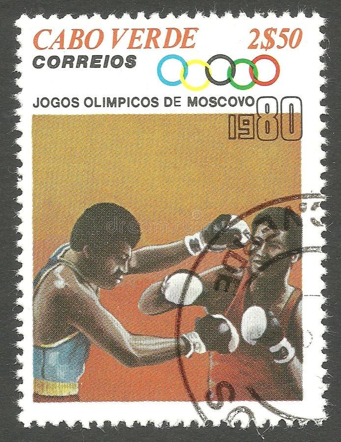 Olympische Spelen, Moskou, het In dozen doen stock afbeeldingen