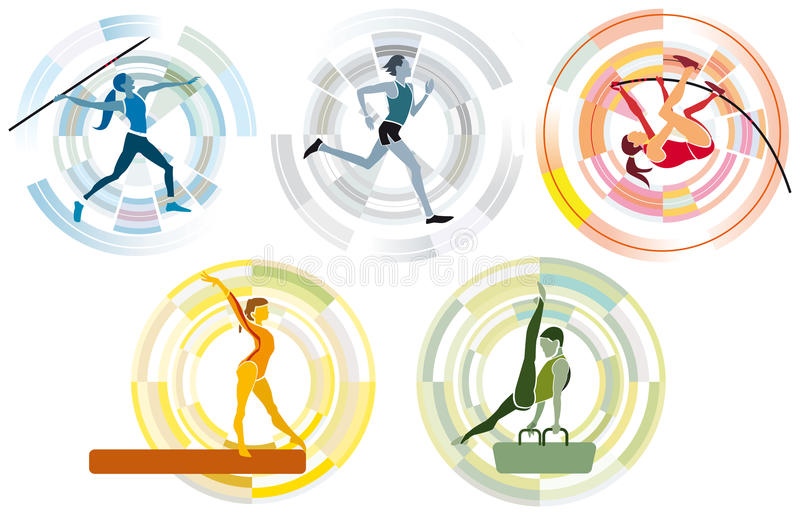 Olympische Sport-Disziplinen lizenzfreie abbildung
