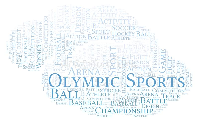Olympische Sportwortwolke stock abbildung