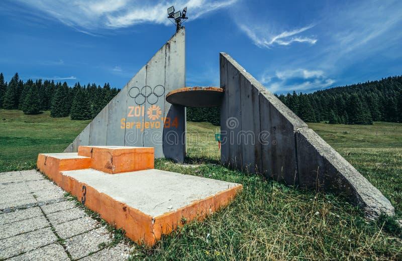 Olympische Sprünge Igman lizenzfreies stockbild
