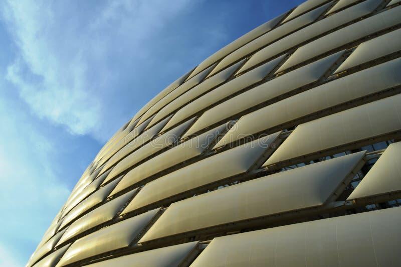 Olympische Stadion en hemel stock foto