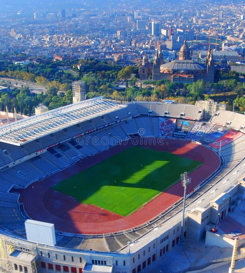 Olympische Stadt Barcelona stockfotos
