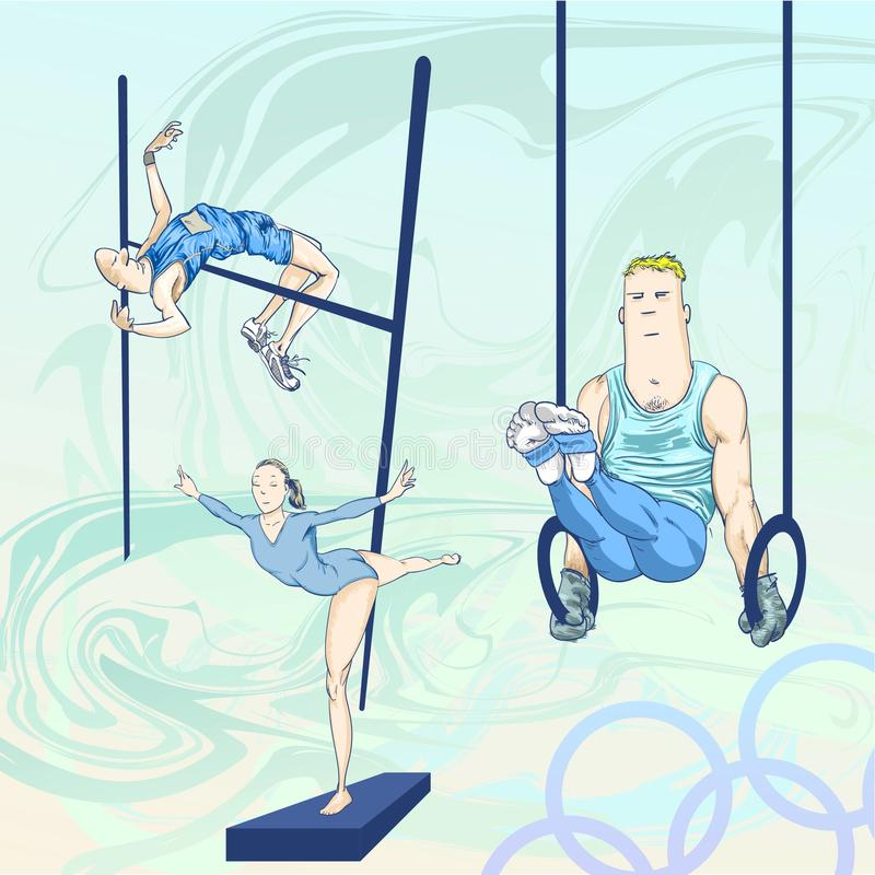Olympische toons - pak 1 stock illustratie