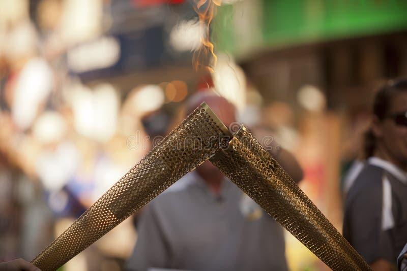 Olympische Toorts 2012 stock foto's