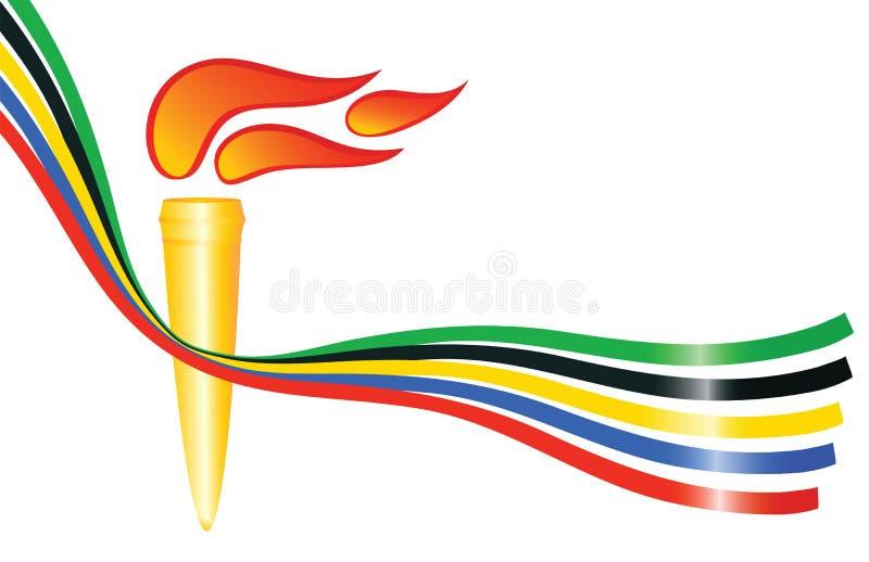 Olympische toorts royalty-vrije illustratie