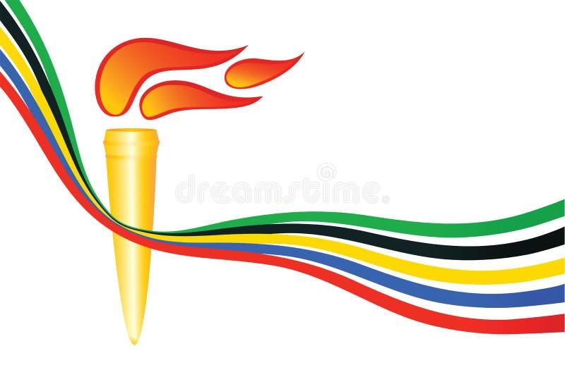 Olympische toorts stock illustratie