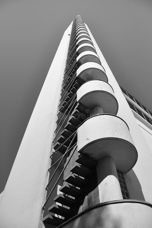Olympischer Kontrollturm in Helsinki stockfoto