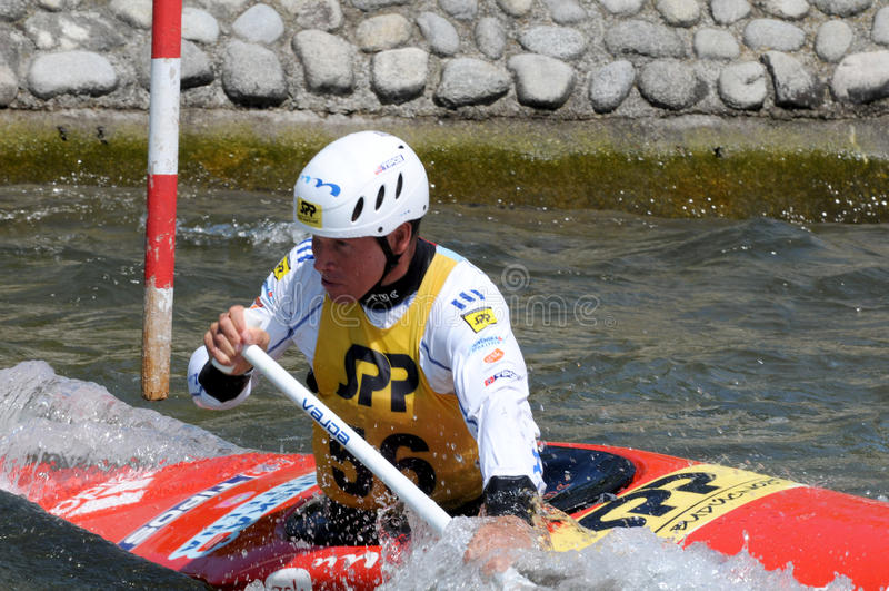 Olympischer Meister Michal Martikan Slowakei lizenzfreie stockfotos