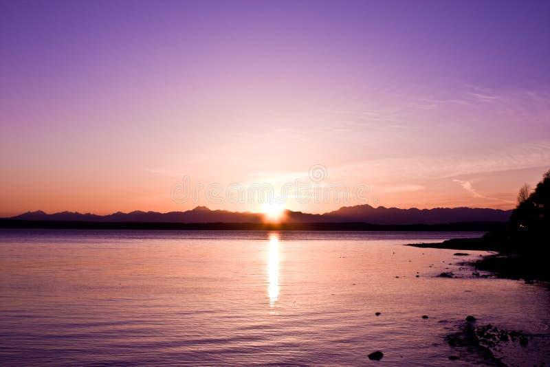 Olympischer Sonnenuntergang stockfotos