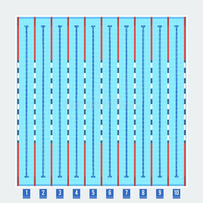 Olympischer Swimmingpool vektor abbildung