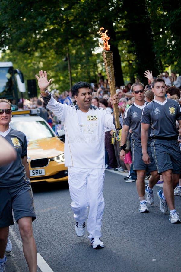 Olympisches Fackel-Relais Sheffield lizenzfreie stockfotos