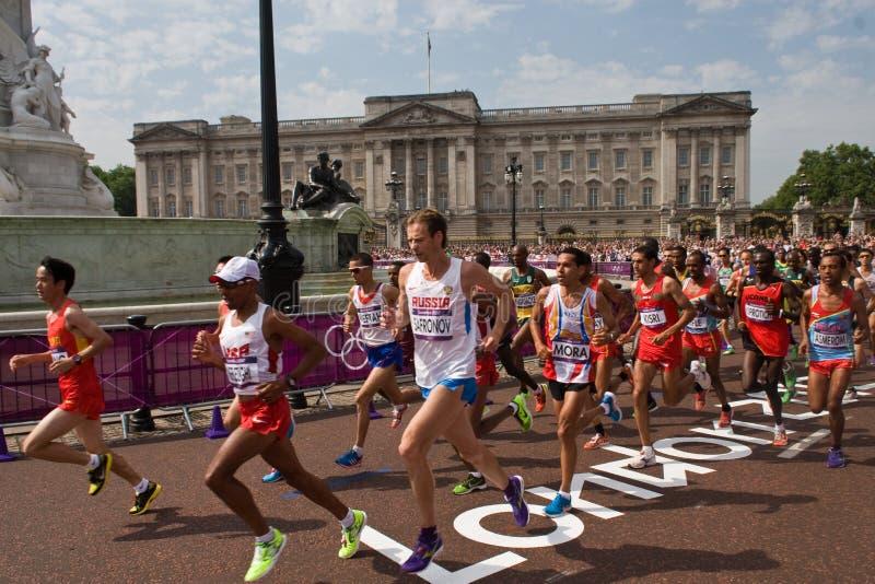 Olympisches Marathon 2012 lizenzfreie stockfotografie