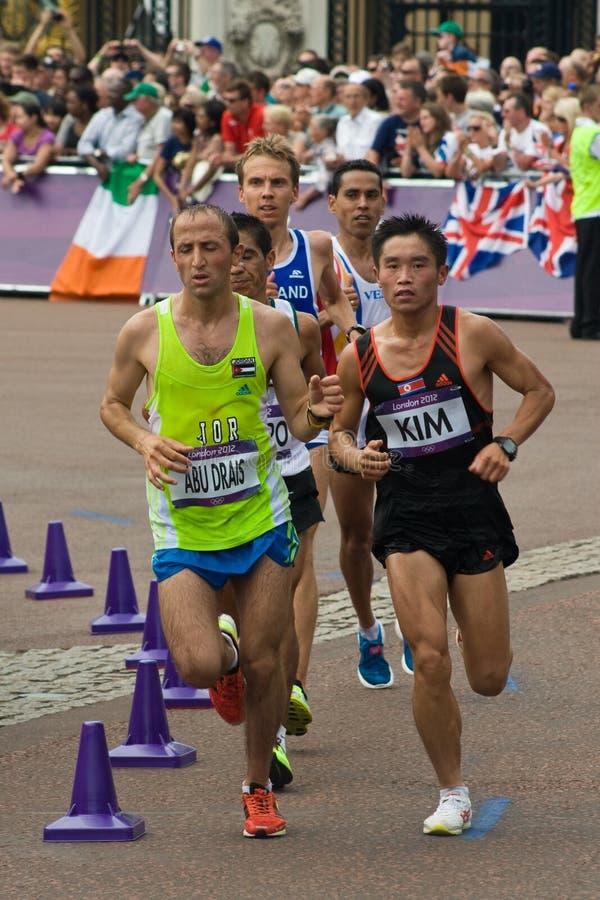 Olympisches Marathon 2012 stockbild