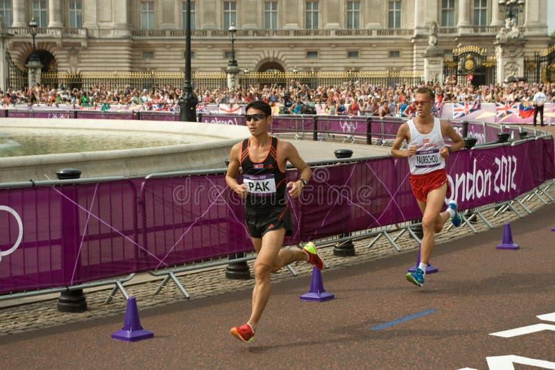Olympisches Marathon 2012 lizenzfreie stockfotos