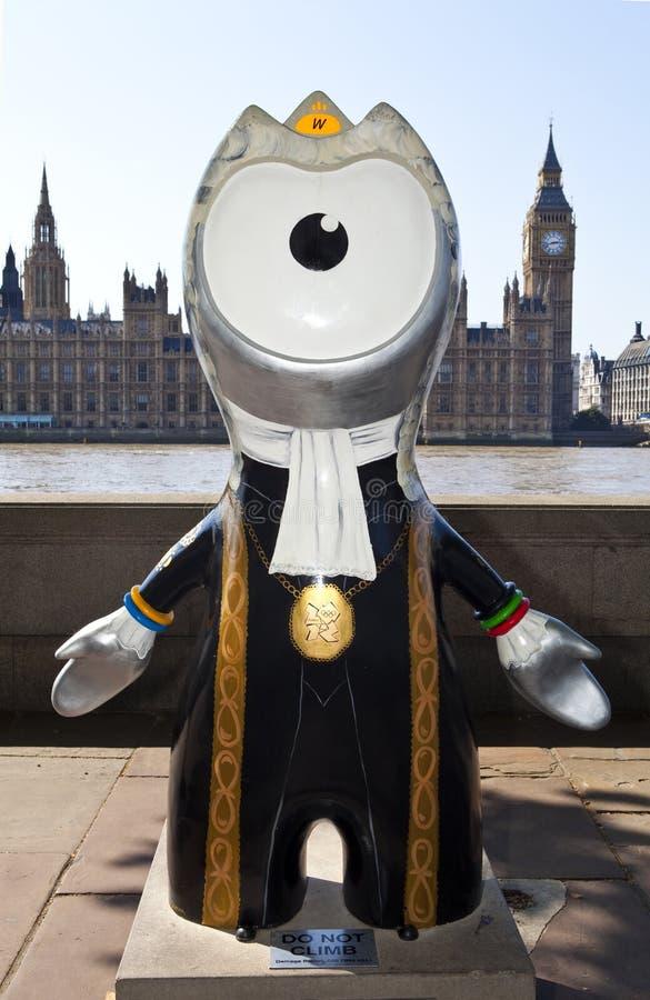Olympisches Maskottchen London-2012 stockfotos