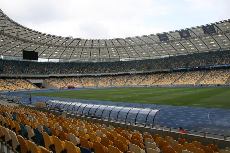 Olympisches NSC, Kiew Vor UEFA-Meister-Liga-Schluss stockbild