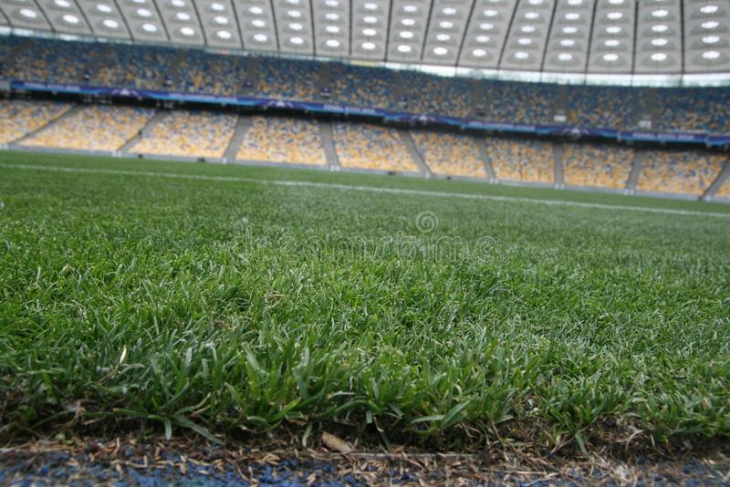Olympisches NSC, Kiew Vor UEFA-Meister-Liga-Schluss lizenzfreies stockbild