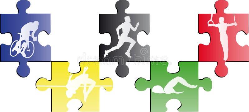 Olympisches puzle stock abbildung