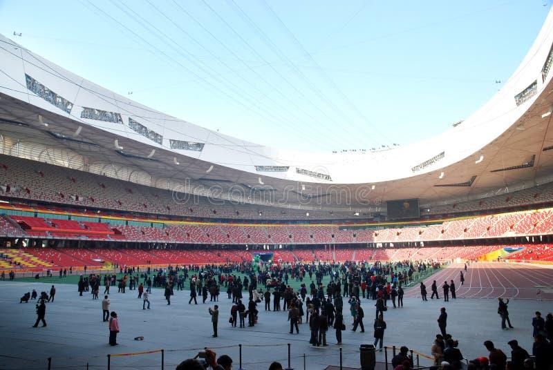 Olympisches Stadion Peking-China lizenzfreies stockbild