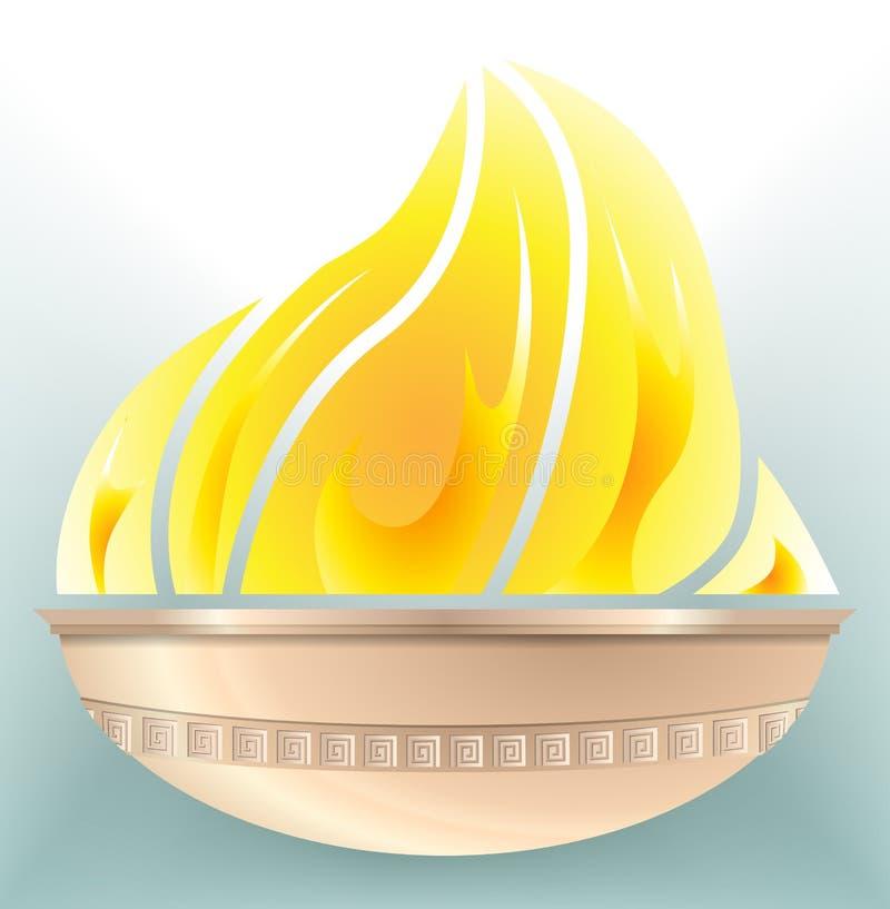 Olympisk brand för stadion royaltyfri illustrationer