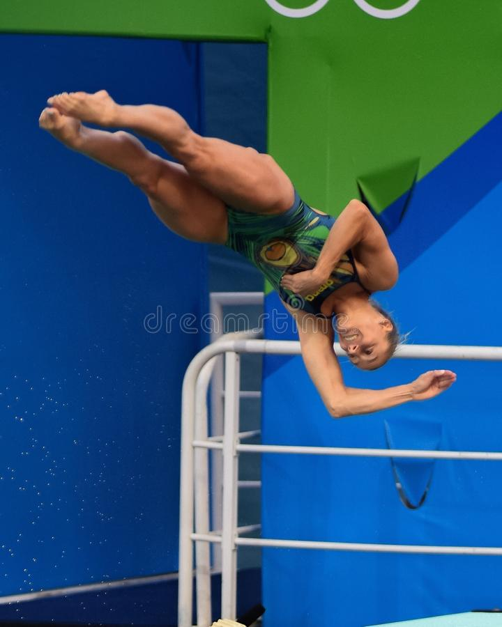 Olympisk dykning royaltyfria bilder