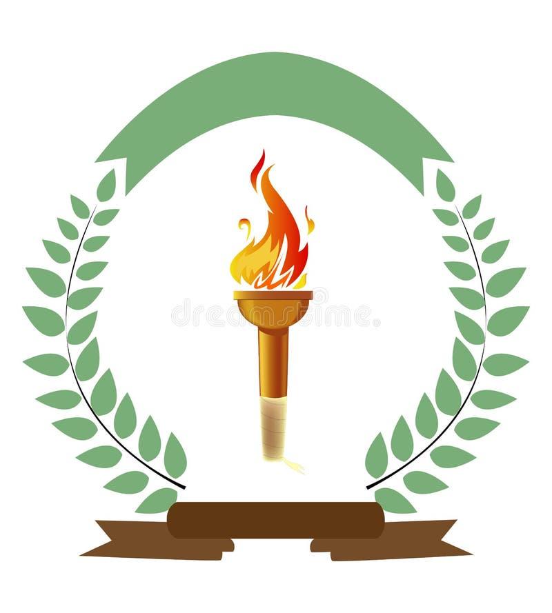 Olympisk fackla royaltyfri illustrationer