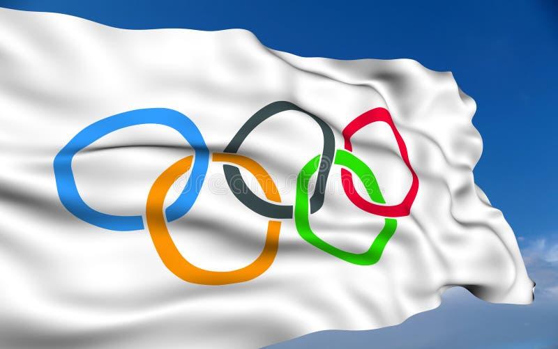 Olympisk Flagga Redaktionell Bild