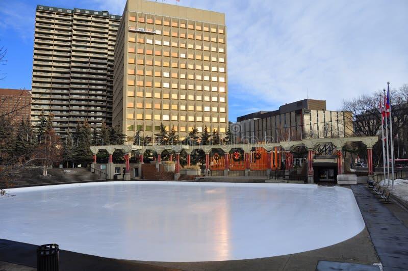 Olympisk Plaza, Calgary royaltyfri foto