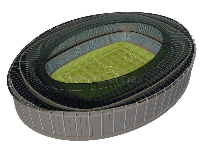 Olympisk stadion med fotbollfältet vektor illustrationer