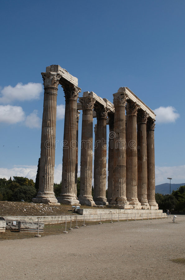 Olympisk Tempelzeus Royaltyfria Foton