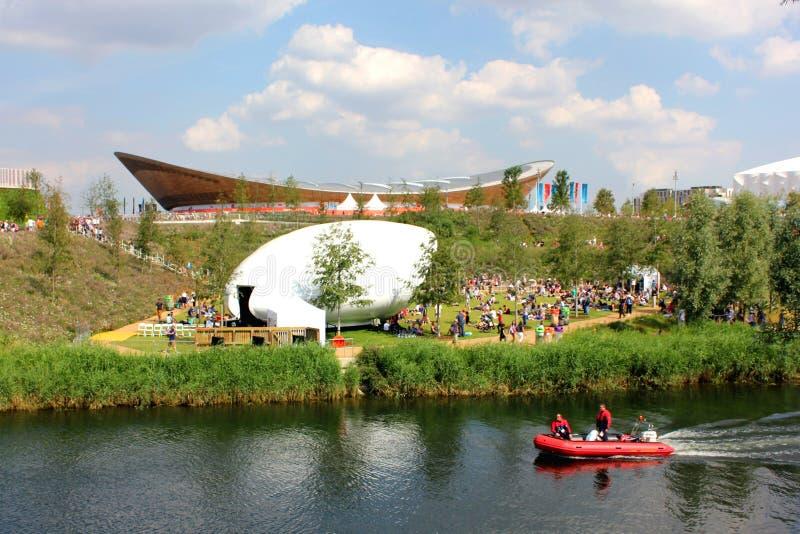 Olympiska London parkerar velodromen arkivbild