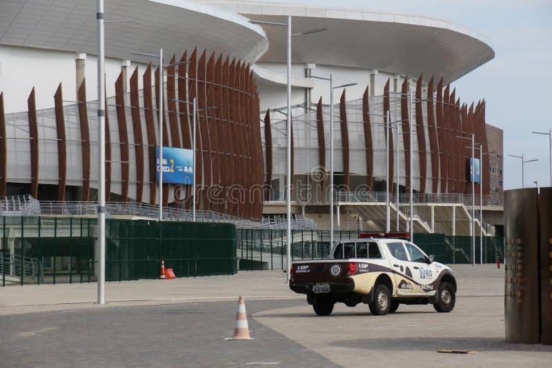 Olympiskt parkera Rio de Janeiro 2016 har omformats in i ett fritidområde b royaltyfri fotografi
