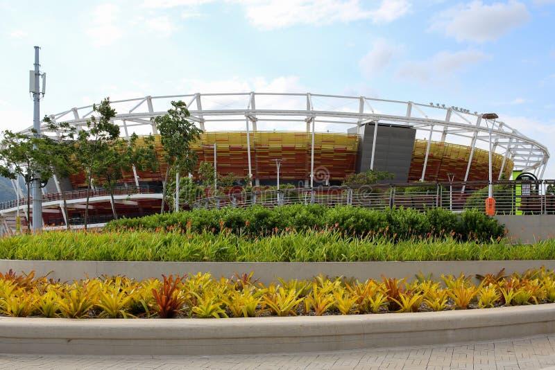Olympiskt parkera Rio de Janeiro 2016 har omformats in i ett fritidområde b arkivbilder