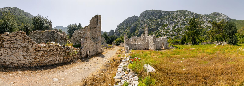Olympos antyczny miejsce, Antalya, Turcja obraz royalty free