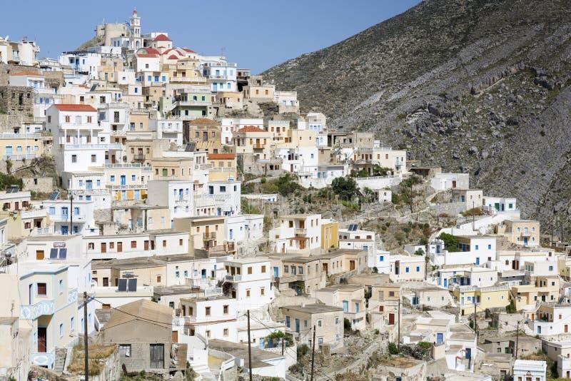 Olympos sur l'île de Karpathos, Grèce photo libre de droits
