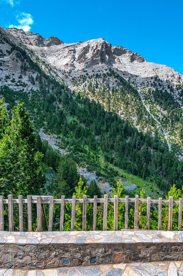 Olympus góra w Grecja schronieniu A fotografia royalty free
