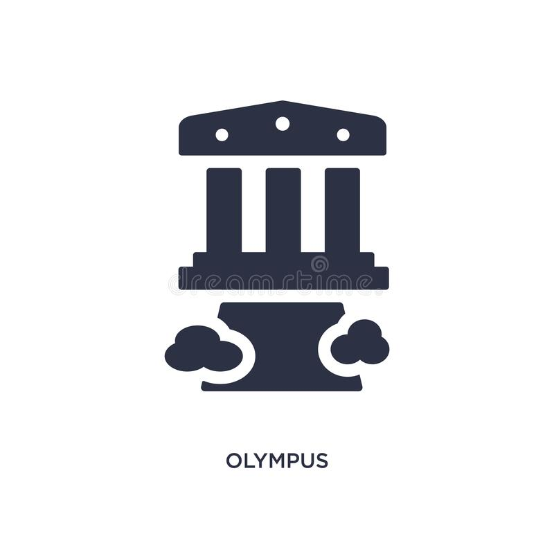 olympus icon on white background. Simple element illustration from greece concept royalty free stock photos