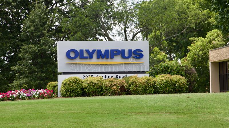 Olympus Industries Headquarters Building Memphis,TN. Olympus industries famous makers of cameras and camera equipment located in Memphis, TN stock images