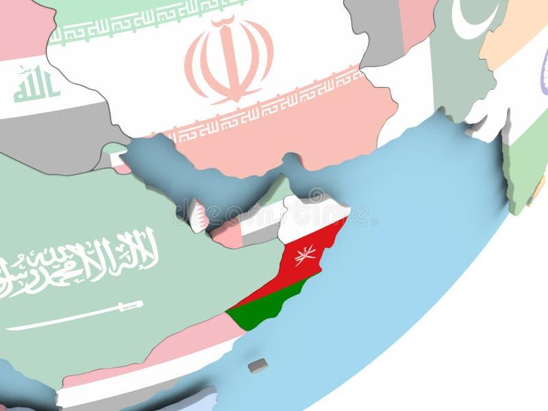 Omán con la bandera libre illustration
