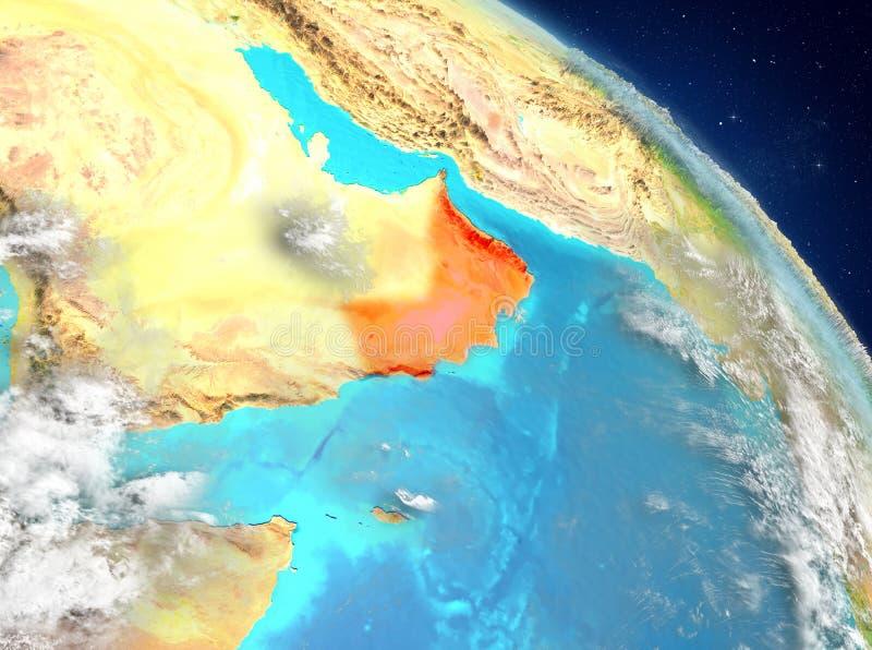 Omán de la órbita libre illustration