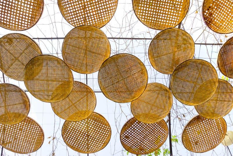 Omłotowy kosz dekorujący dla sunshade zdjęcie stock