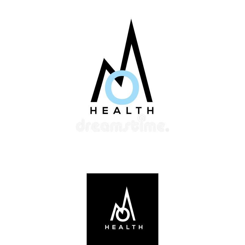 om导航商标 健康生活方式象征 山标志设计元素 瑜伽学校设计元素