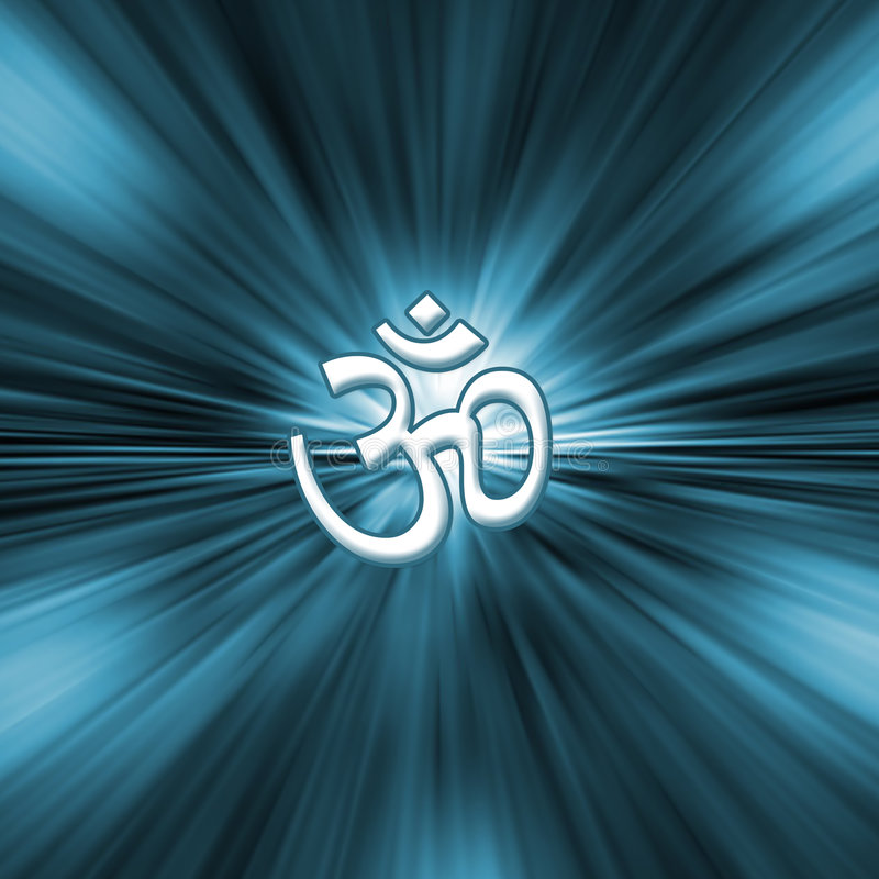 om符号瑜伽 皇族释放例证