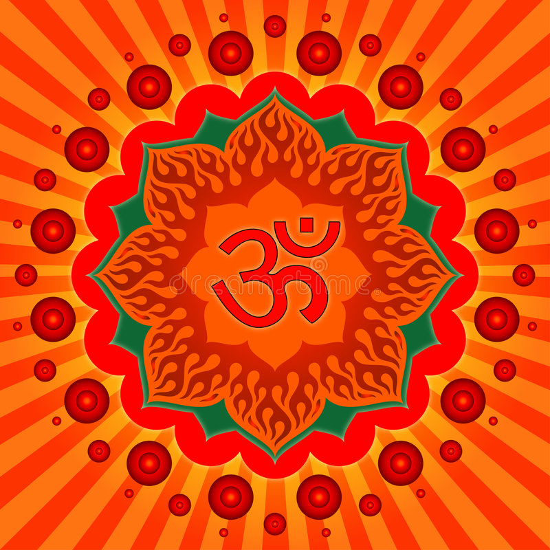 Om ! stock images