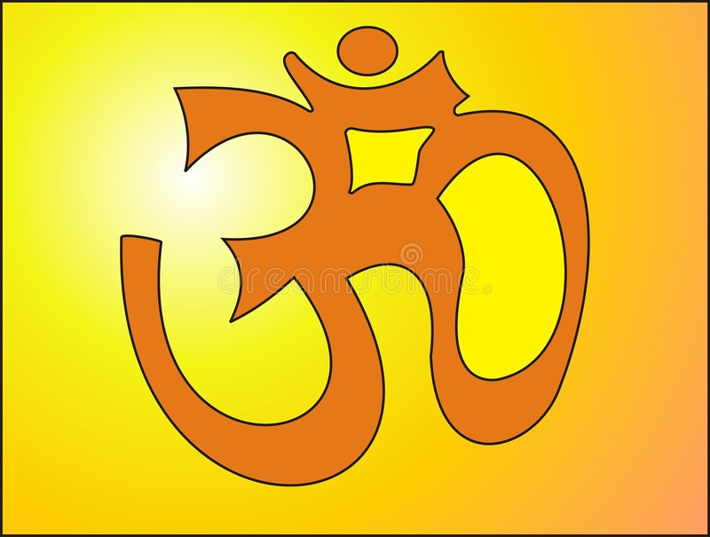 Om. The symbol of yoga vector illustration