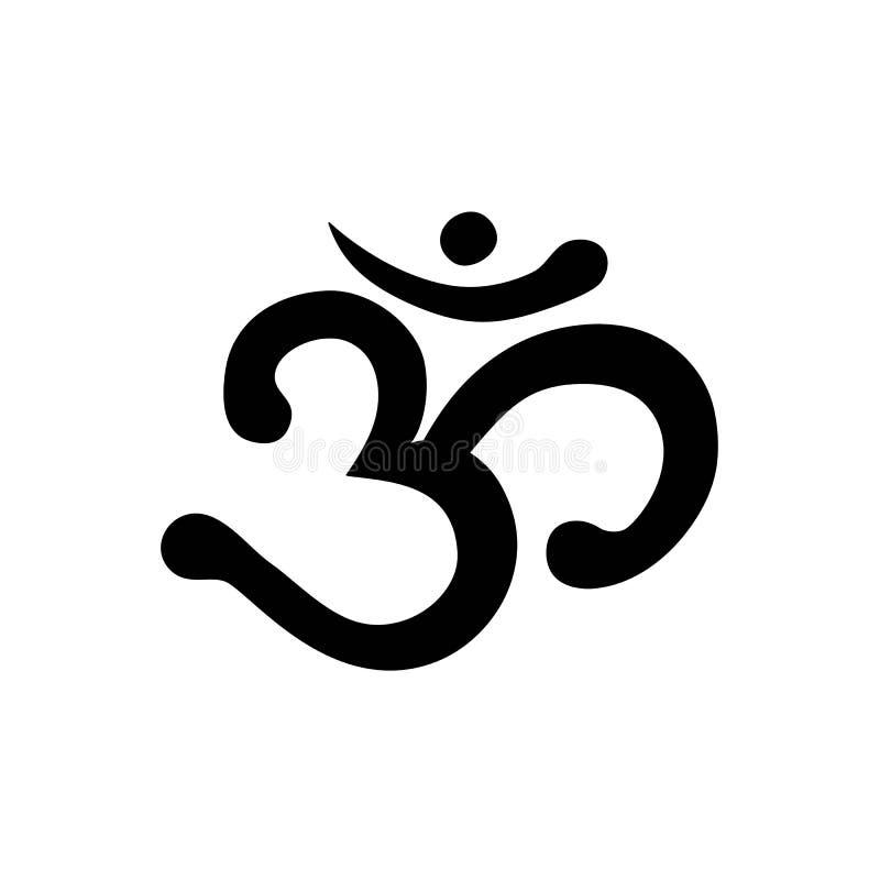 Om Aum om ind sumbol medytaci joga mantry hinduism buddhism royalty ilustracja