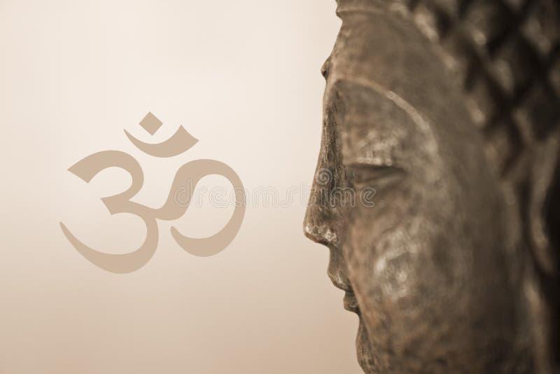 OM Buddha stock de ilustración