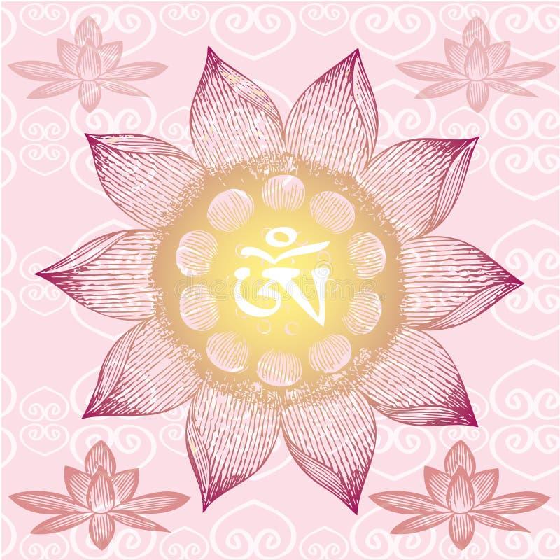 Om Design,lotus flower, vector illustration