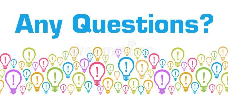 Om het even welke Vragen Kleurrijke Bollen met Tekst vector illustratie